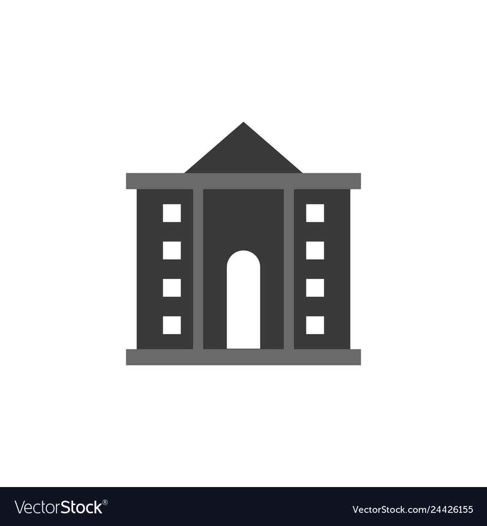 Bank building icon - government - financial