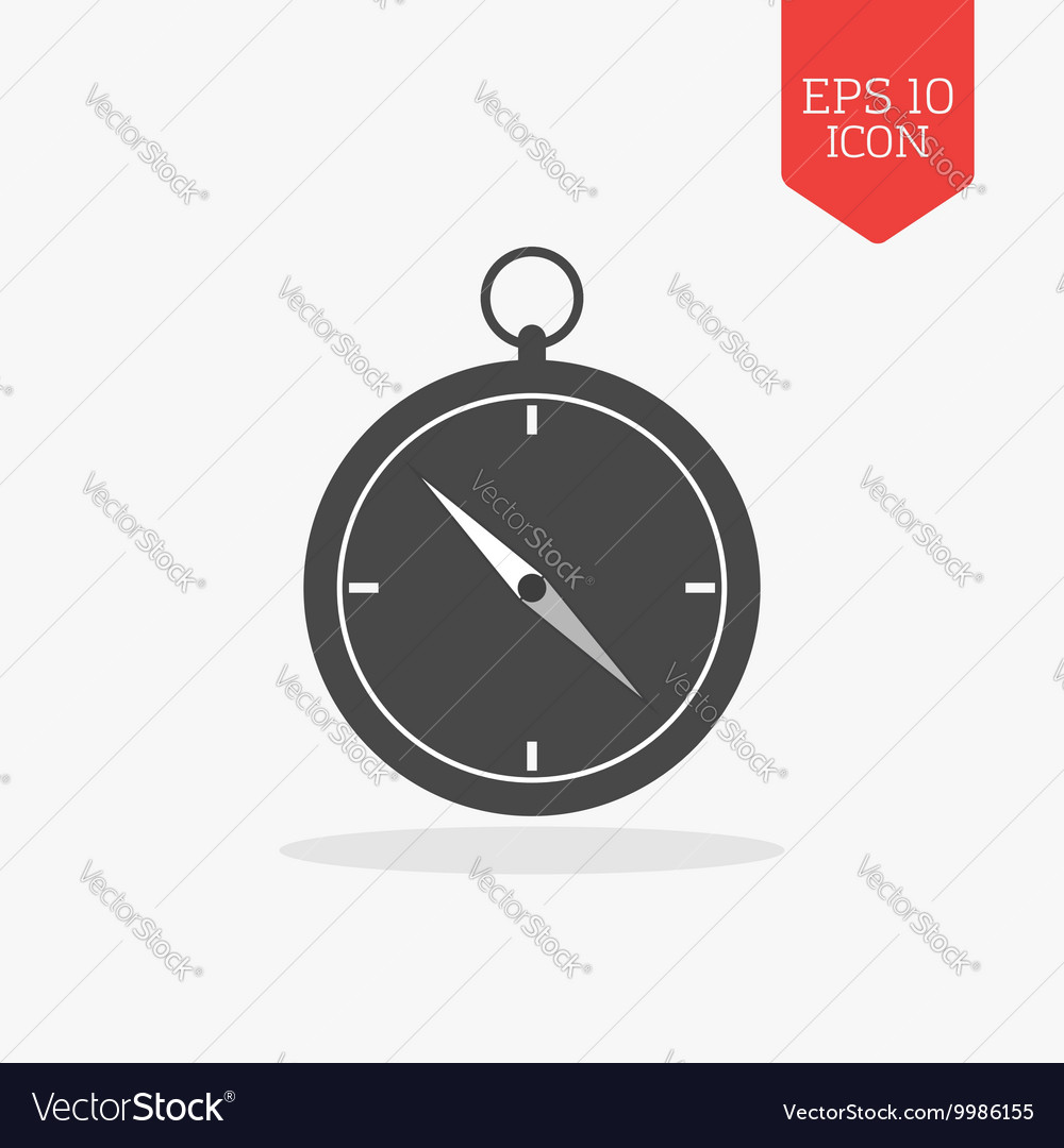 Compass icon Flat design gray color symbol Modern vector image