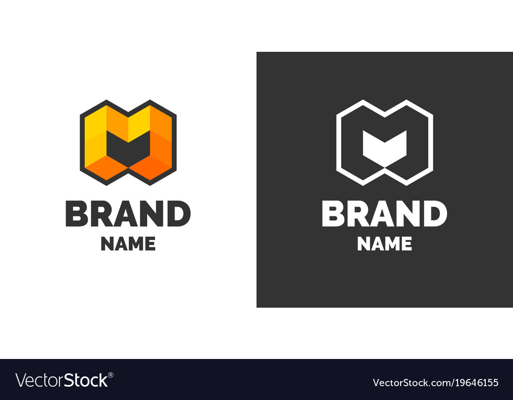 Modern logo and sign the letter m vector image