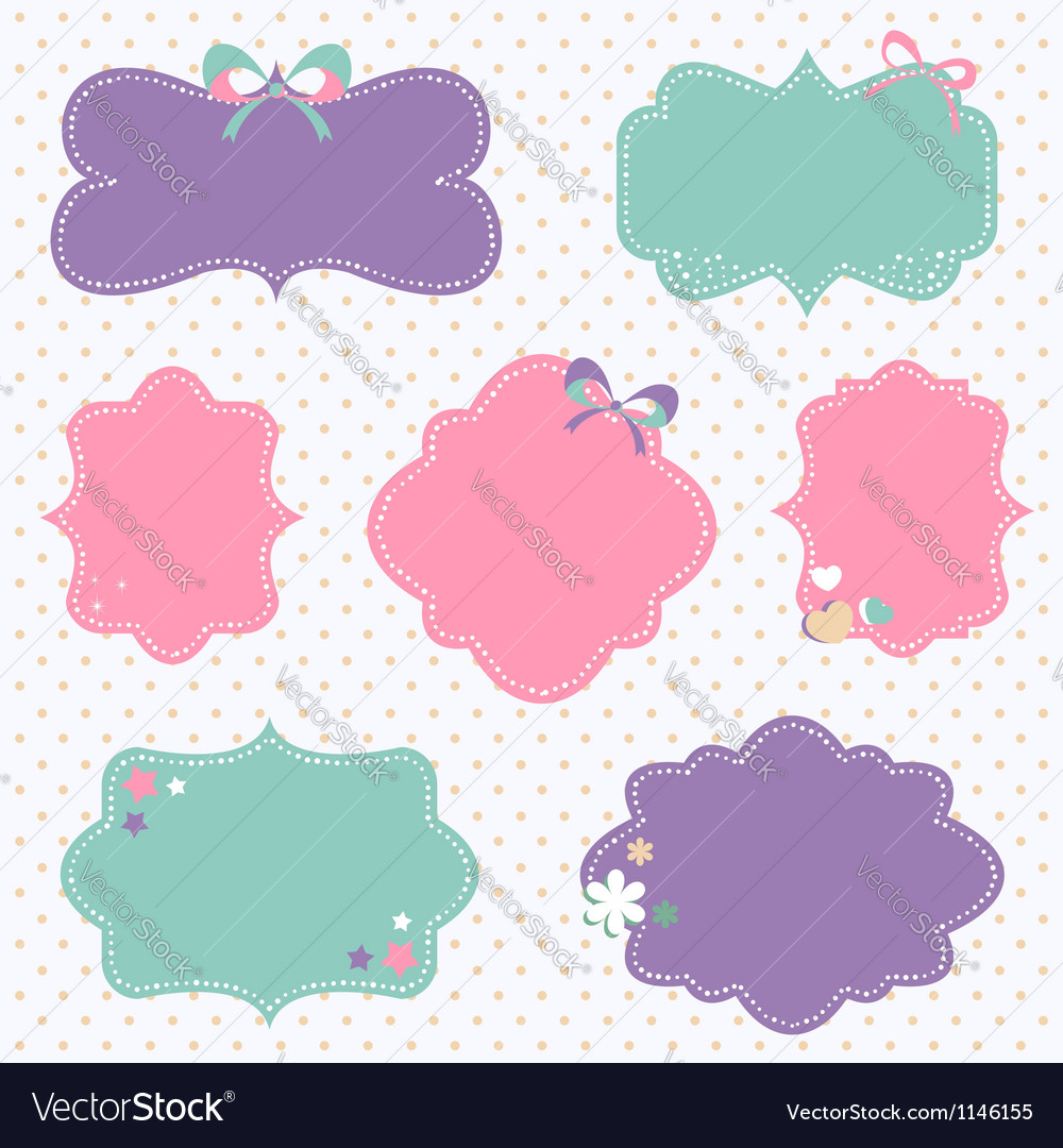 retro romantic love stickers and tags royalty free vector