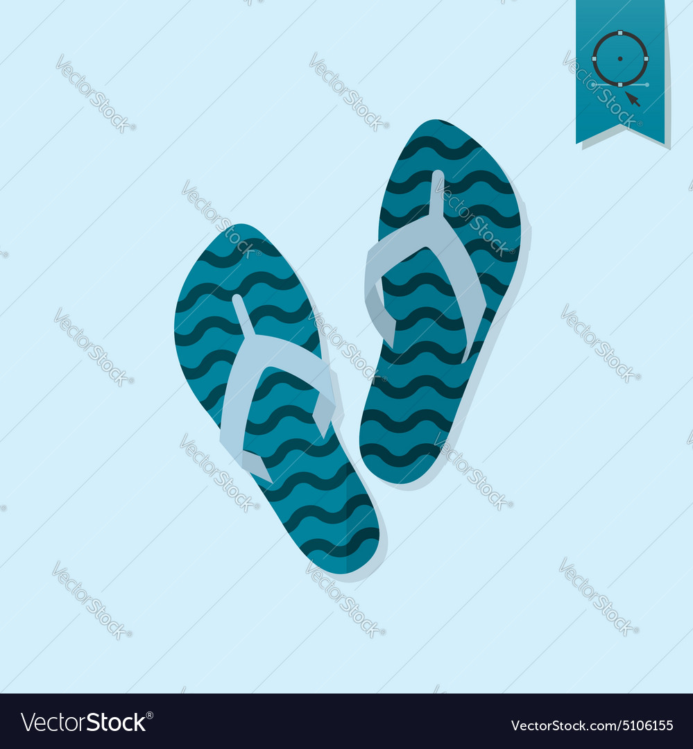 29c6f18202abd5 Summer and Beach Simple Flat Icon Royalty Free Vector Image