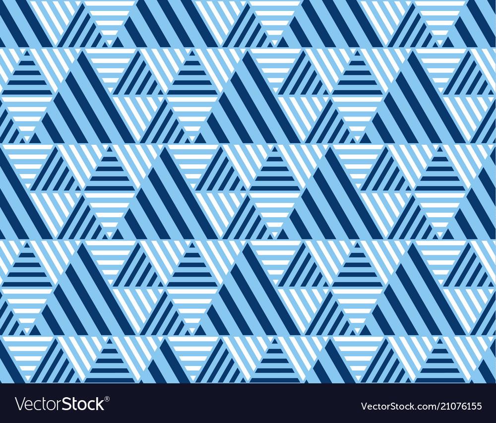 Summer sea blue geometry seamless pattern