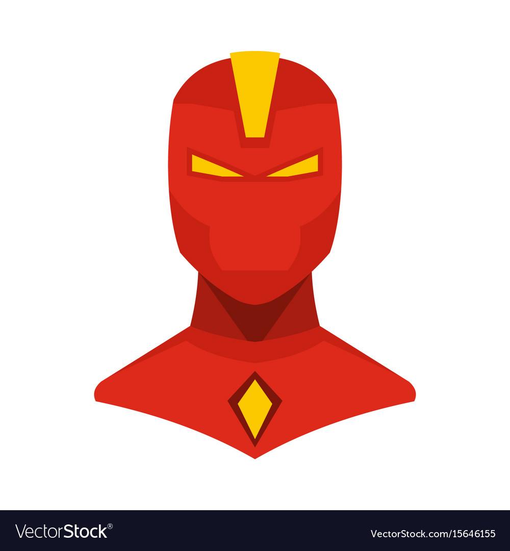 Superhero in flat cartoon style