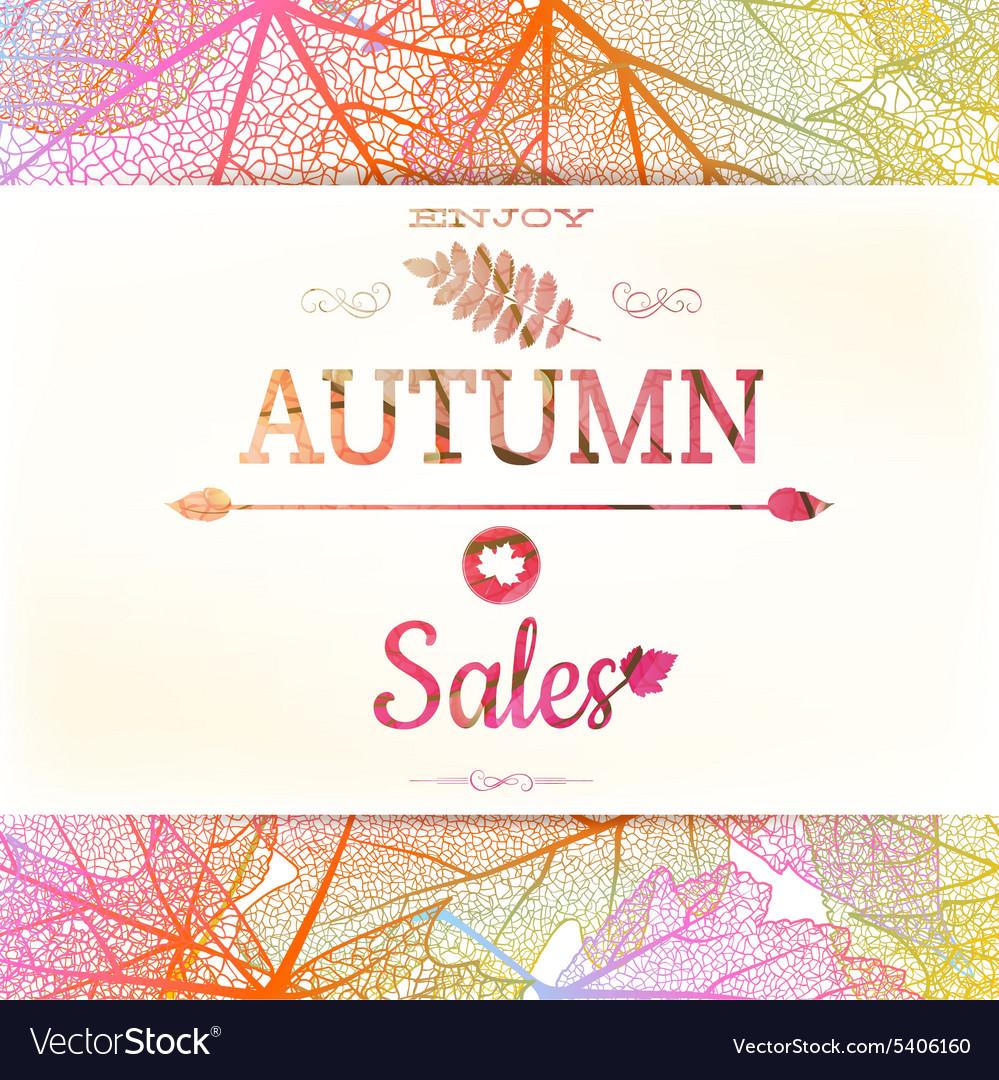 Autumn sale background EPS 10