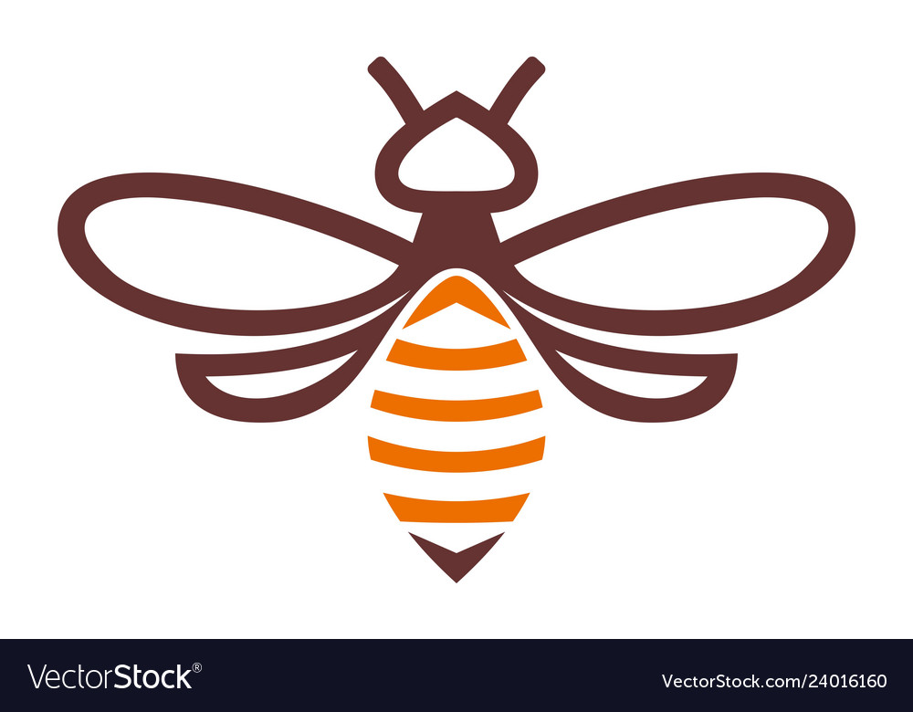 Bee abstract logo icon