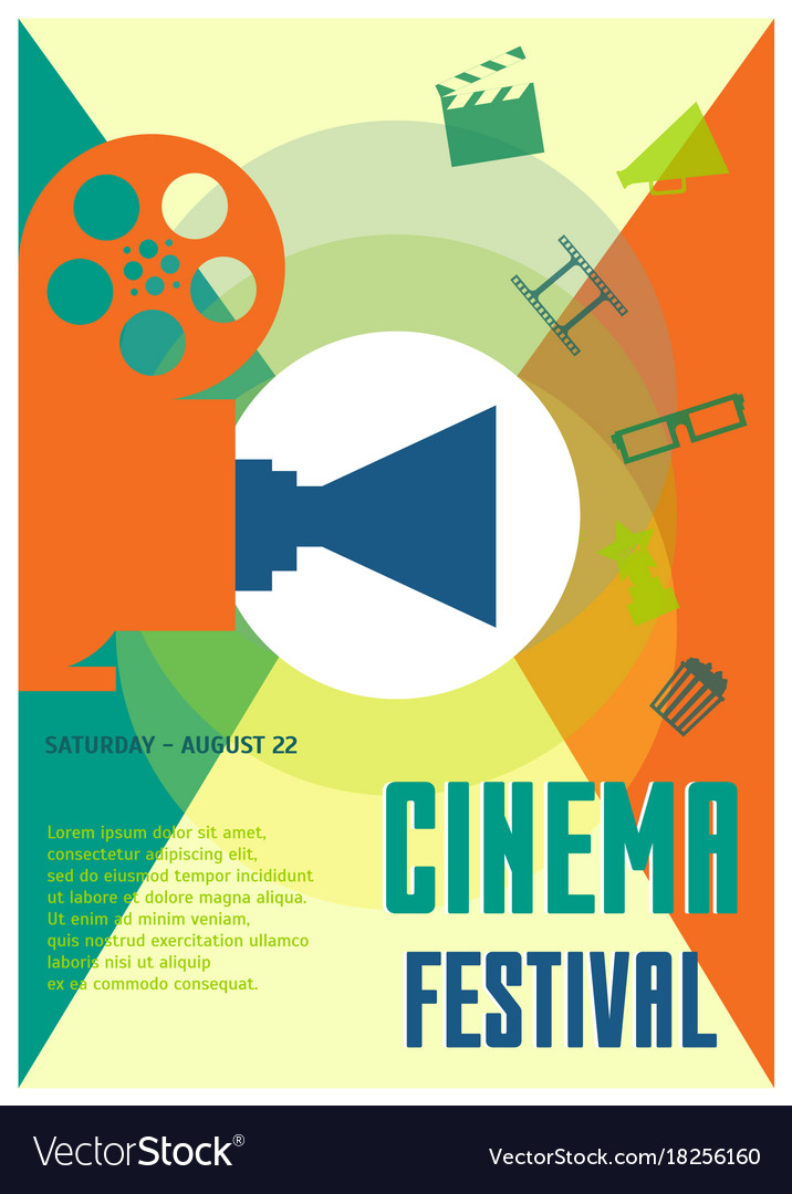 Cinema festival placard poster or flyer template