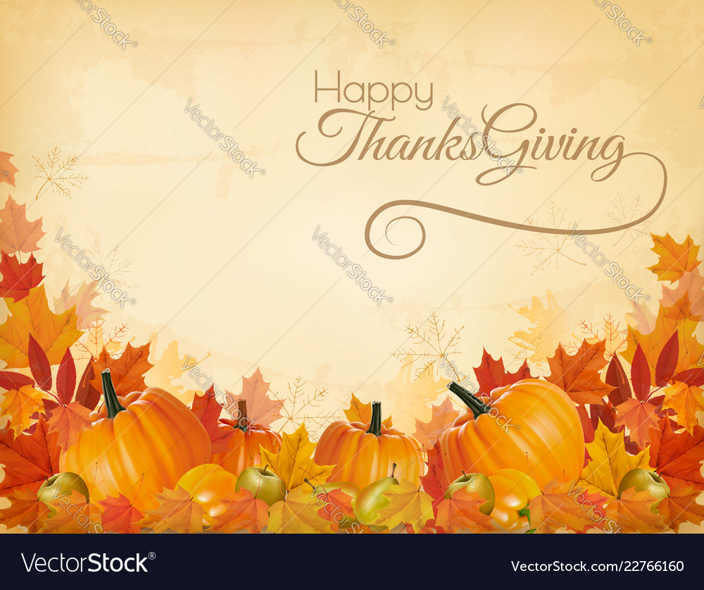 Happy thanksgiving background with colorful
