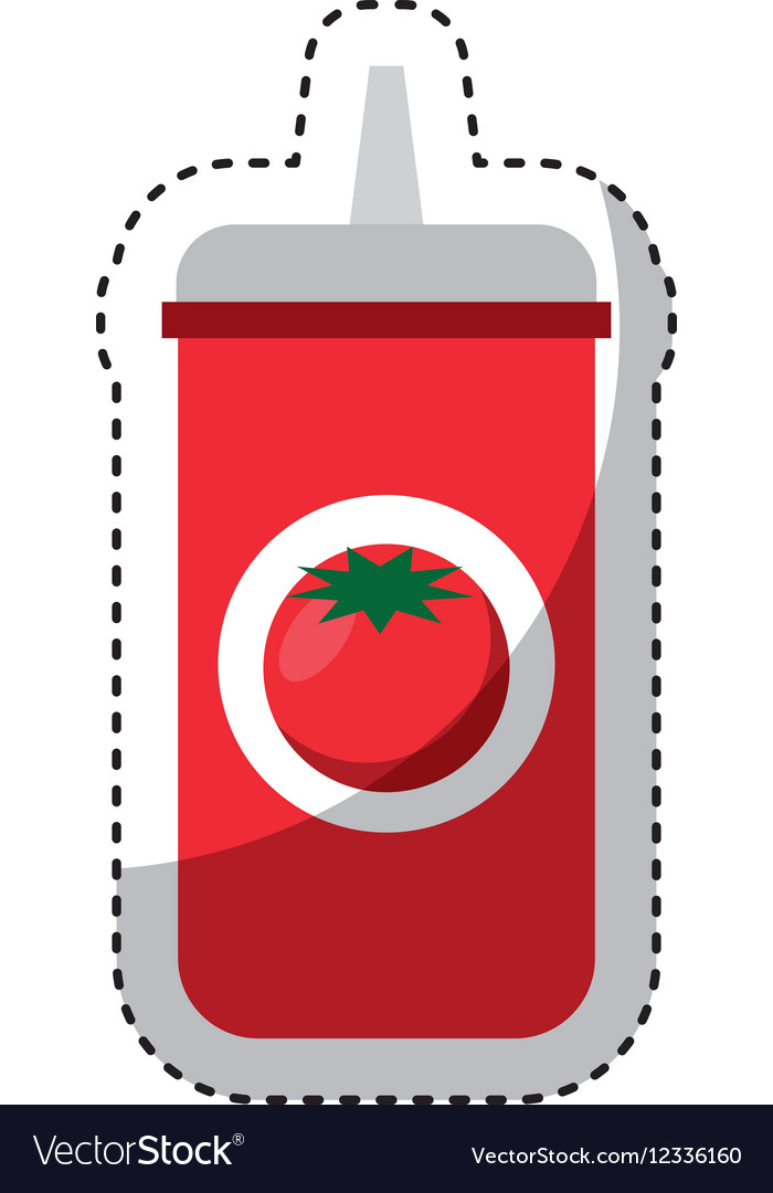 Ketchup bottle isolated icon