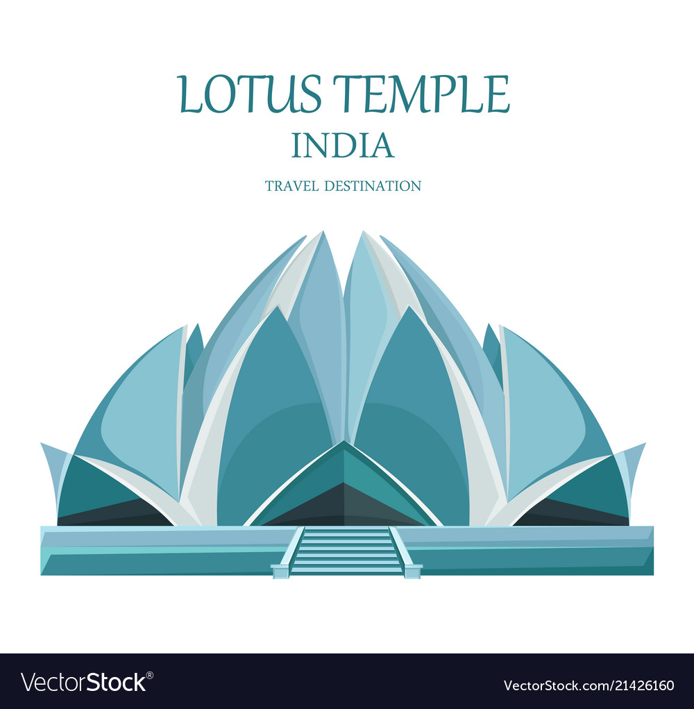 Lotus temple india landmark attraction