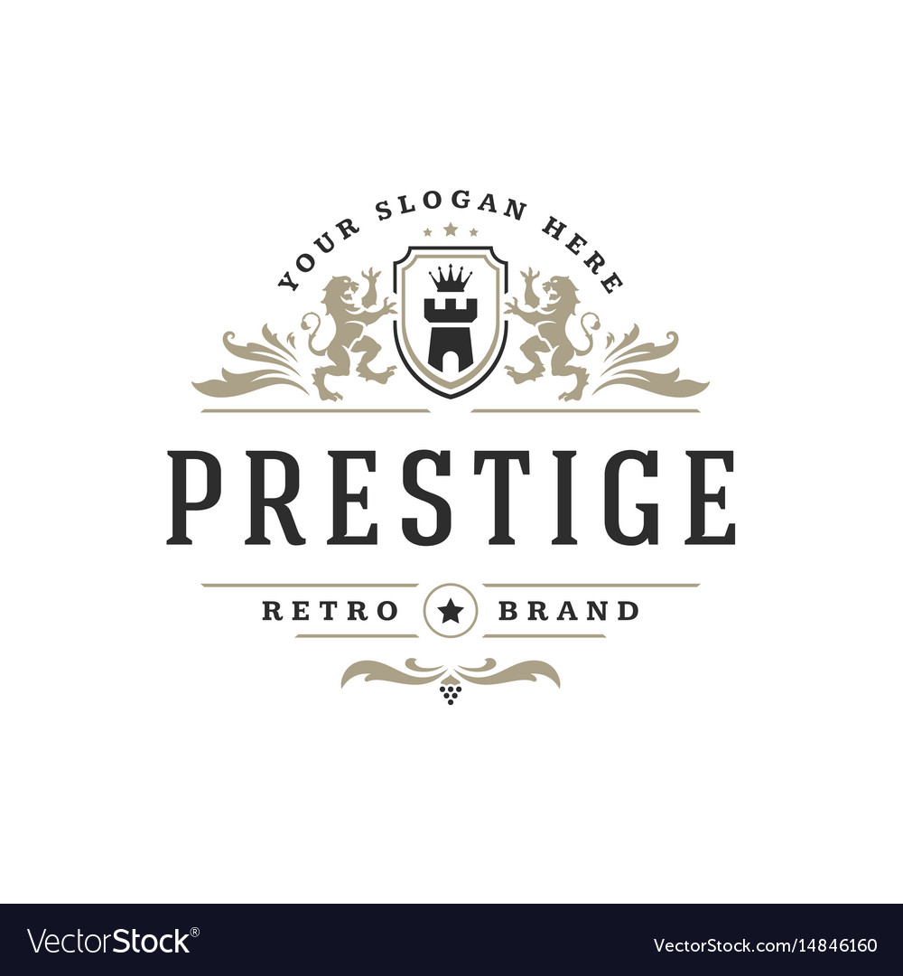 Luxury logo template object for logotype or