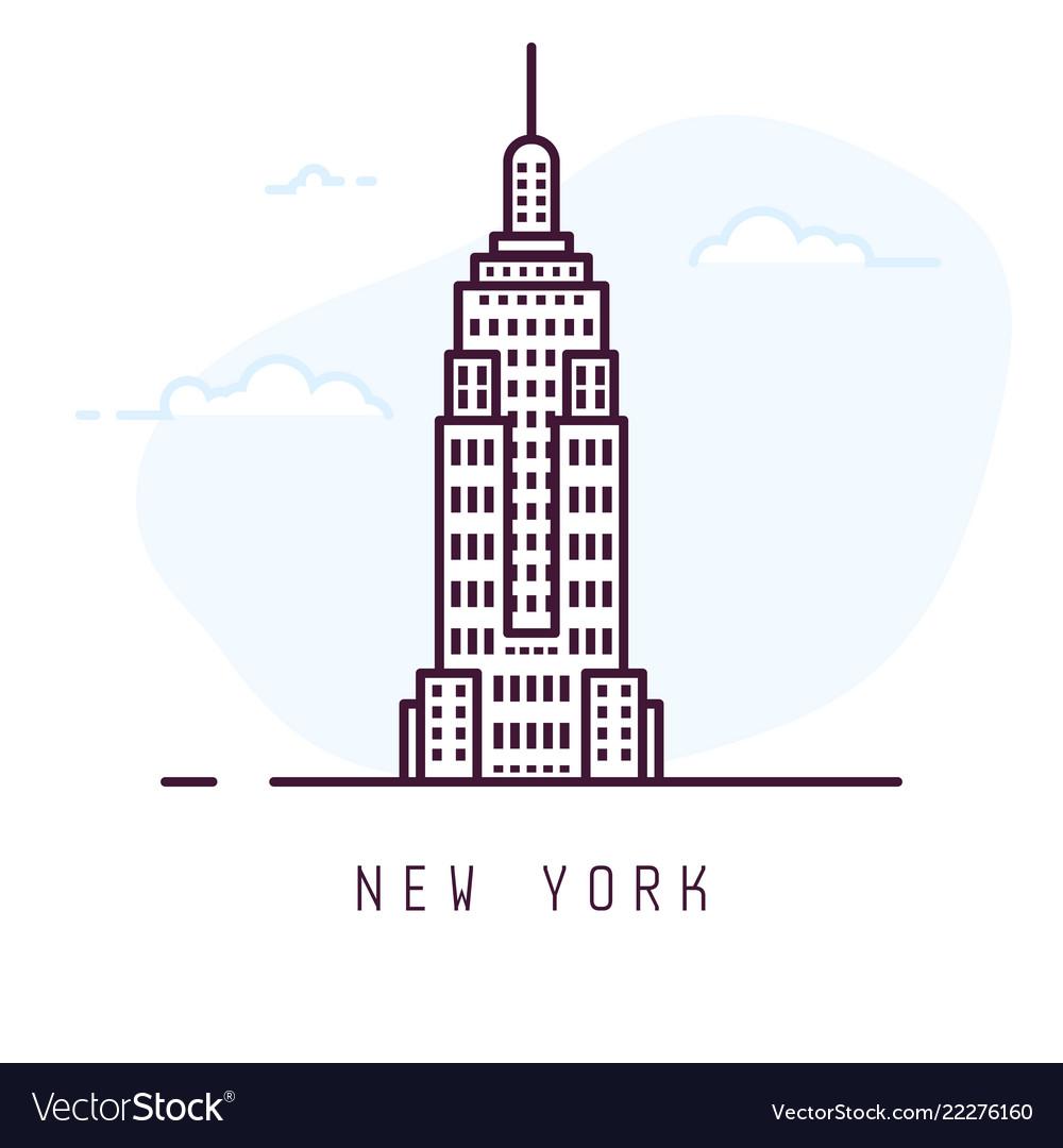 New york line style