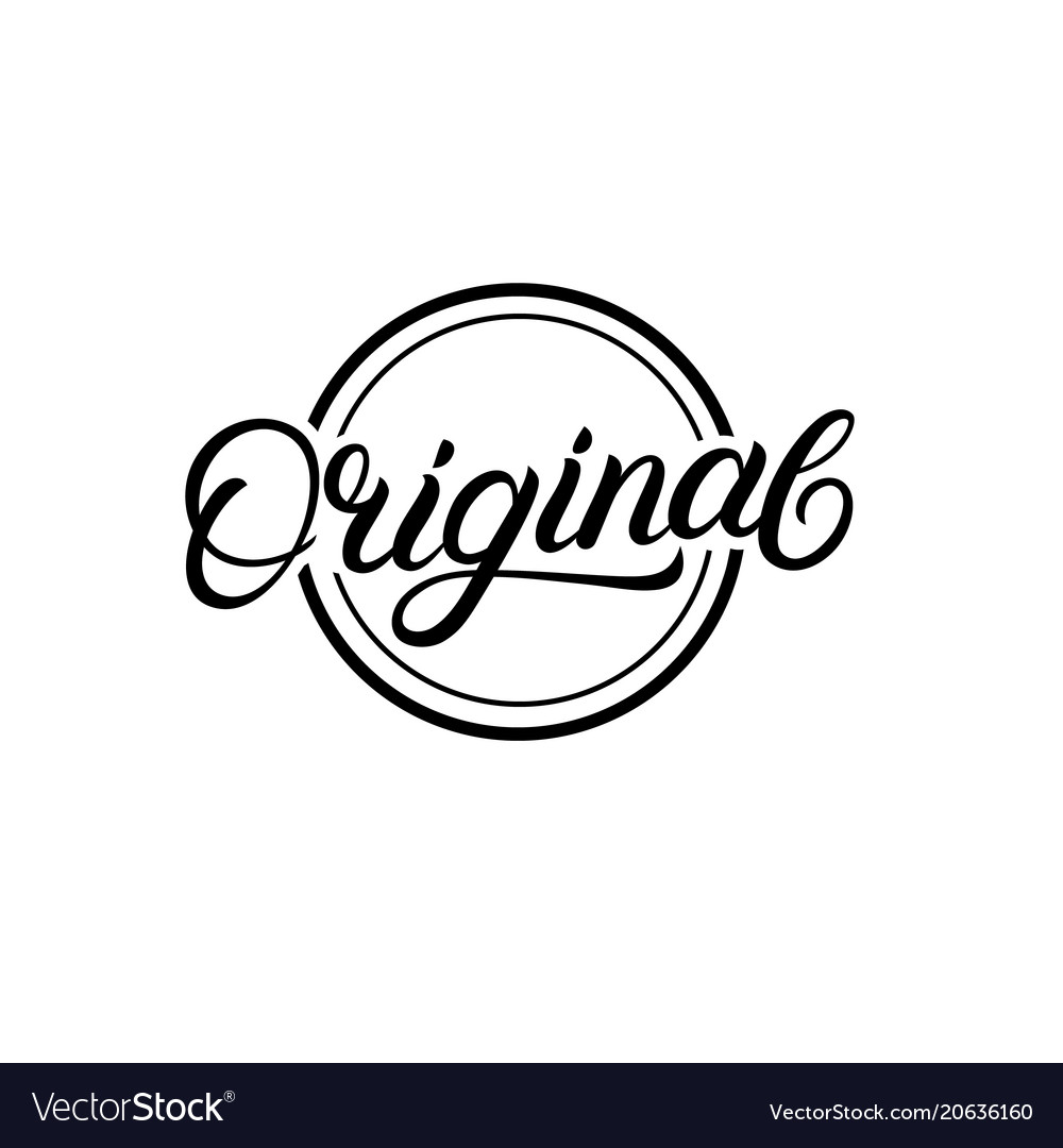 Original hand written lettering sign logo stamp