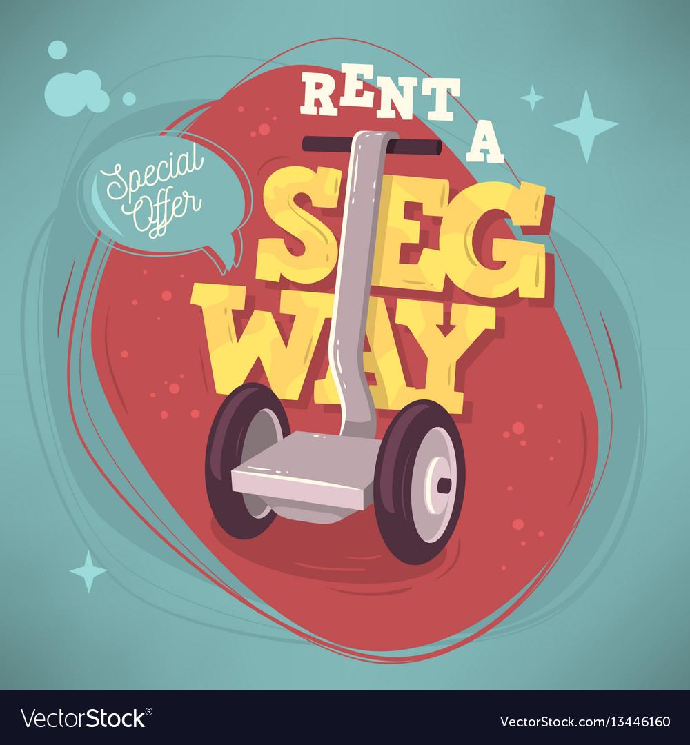 rent a segway promotional poster flyer card design