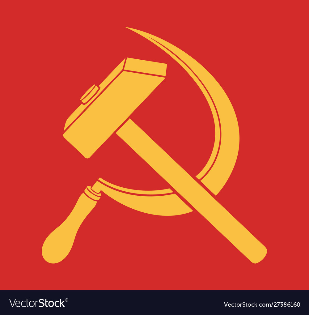 Symbol ussr - hammer and sickle