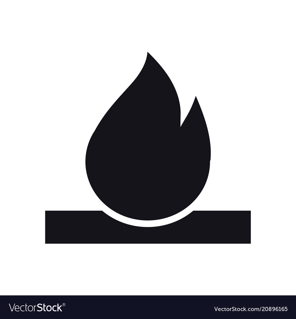 Bonfire icon campfire with firewood sign and vector image