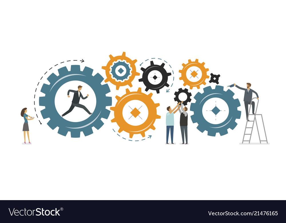 Business development teamwork concept