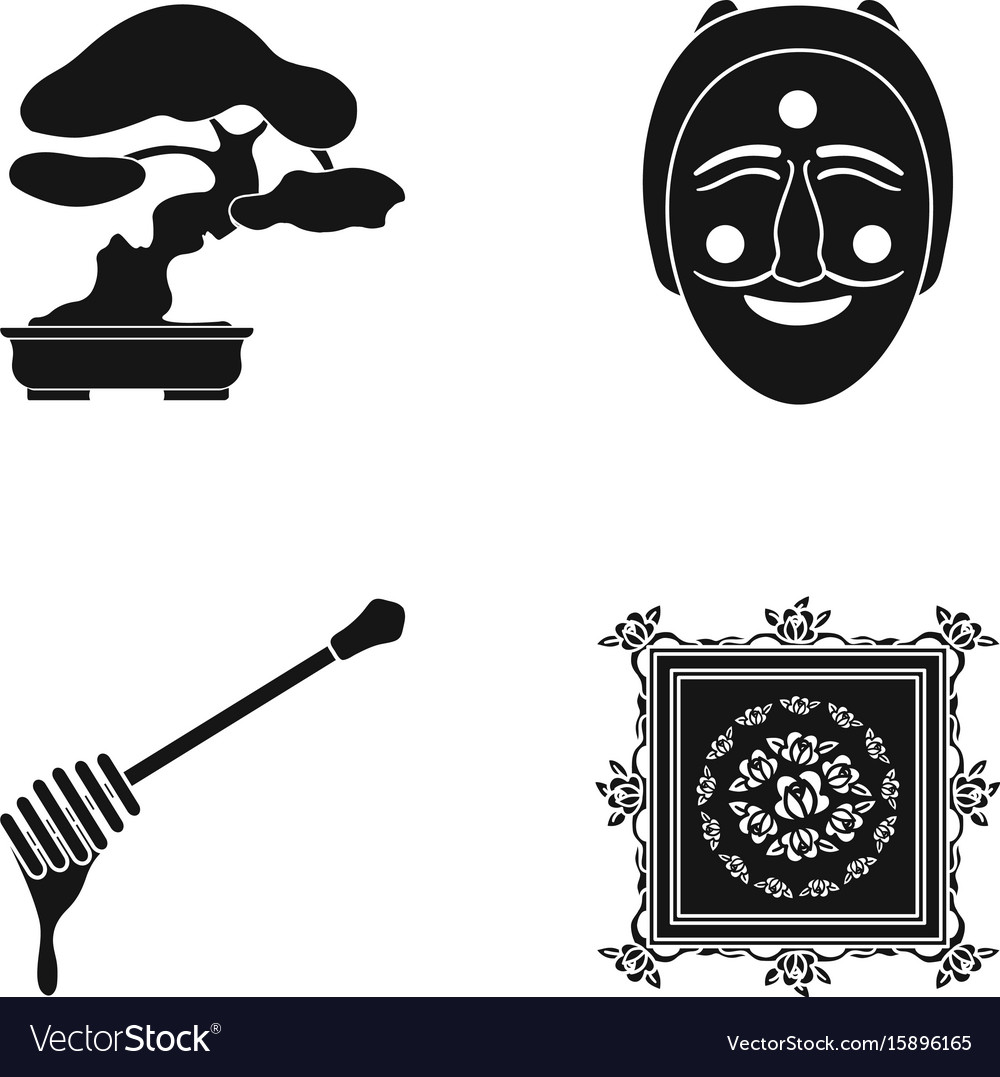 Drawing decoration nature and other web icon in vector image