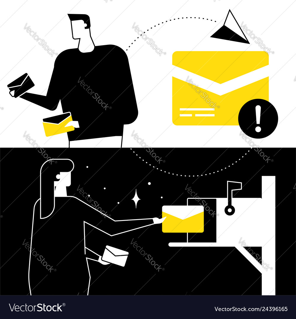 Email marketing - flat design style