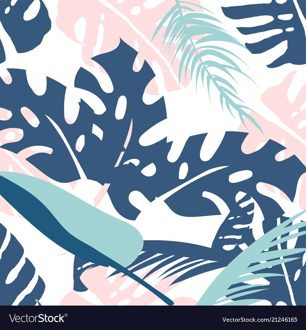 Floral palm pattern