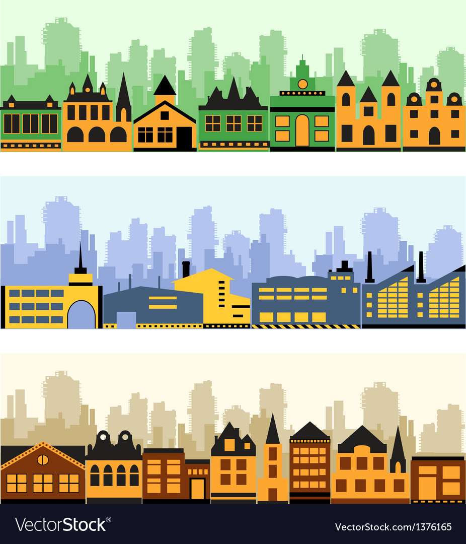 Fragment of the city vector image