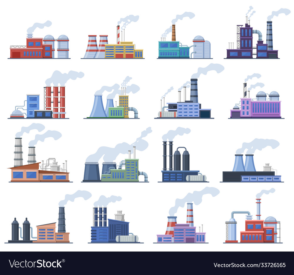 Industrial factory manufacturing building