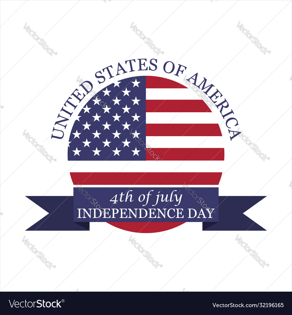 Logo 4th july independence day