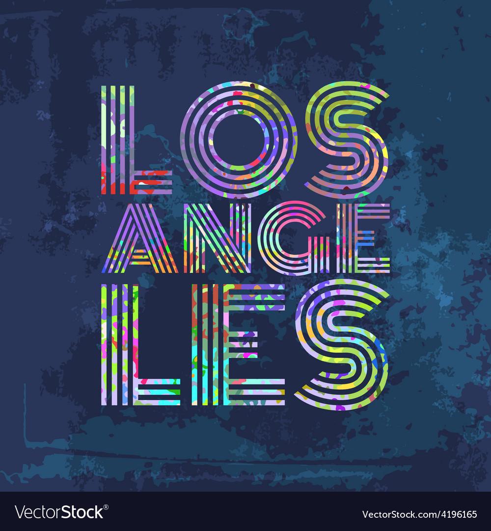 Los Angeles - Artwork for wear in custom colors