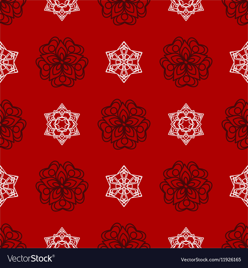 Snowflake winter Christmas seamless red