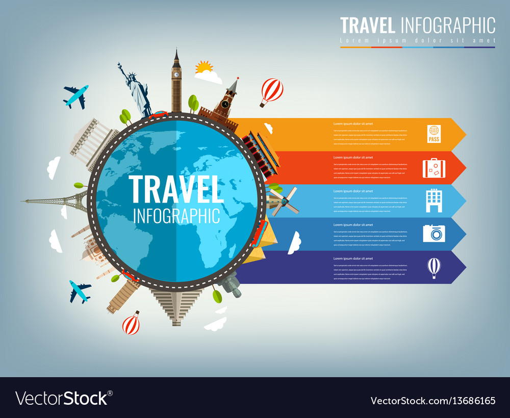 Travel infographic infographics for business web