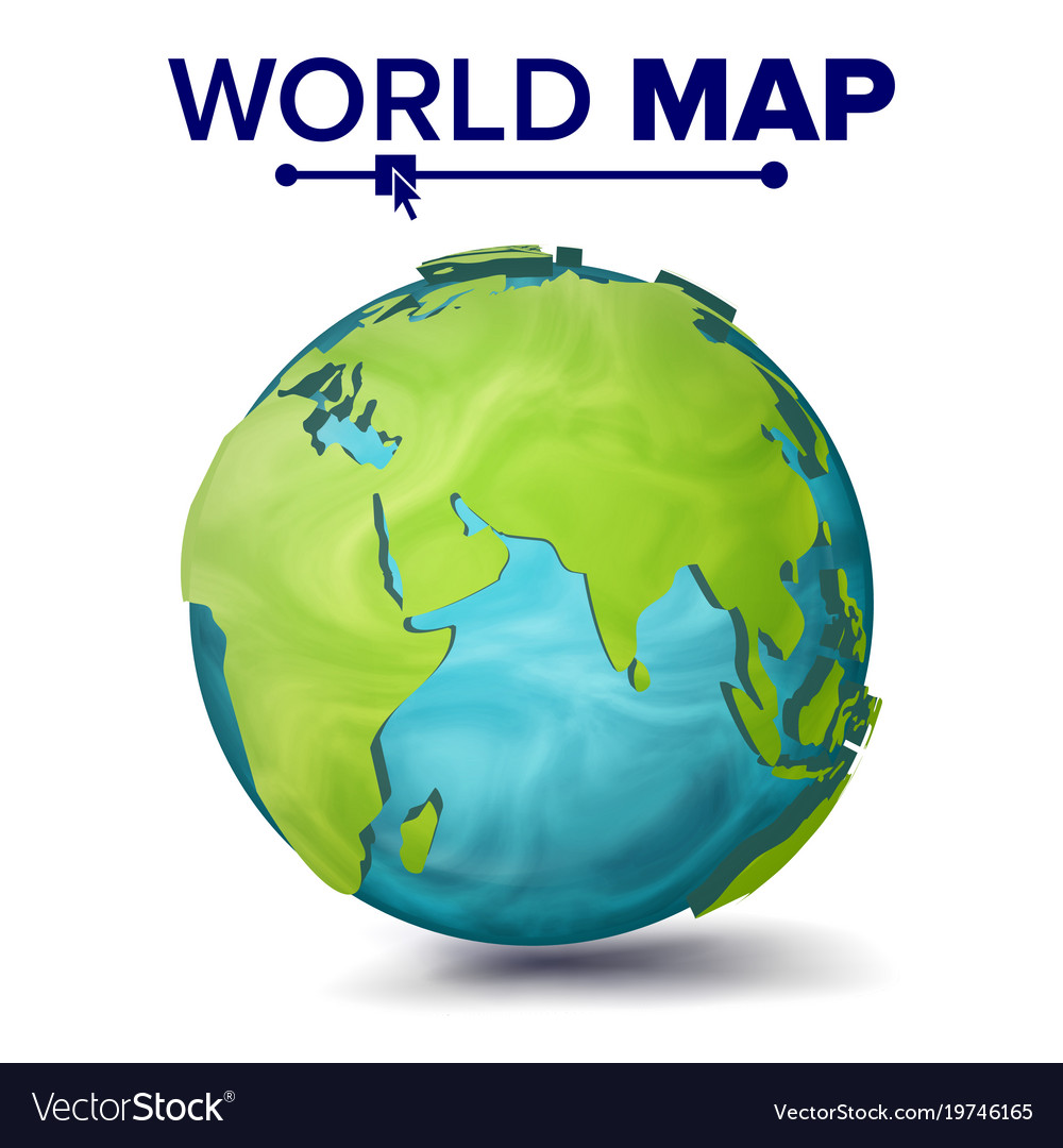 World map 3d planet sphere earth with royalty free vector world map 3d planet sphere earth with vector image gumiabroncs Gallery