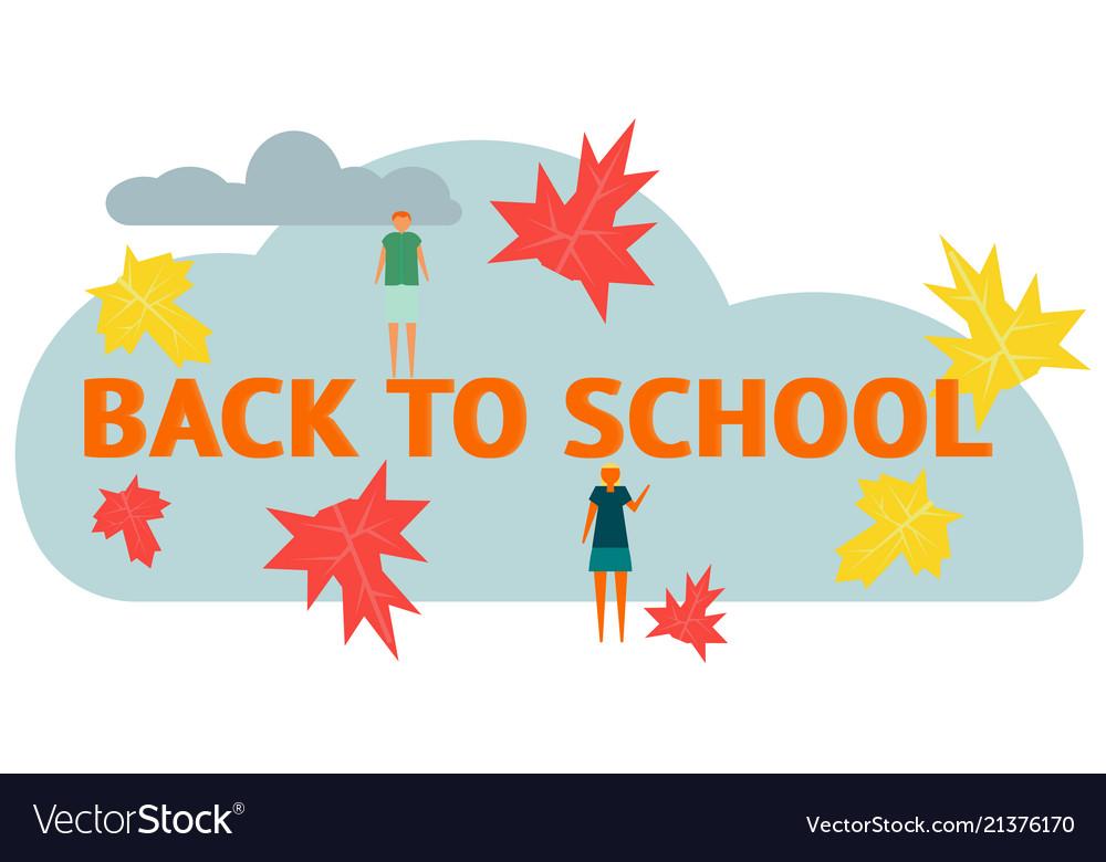 Autumn leaf fall back to school a