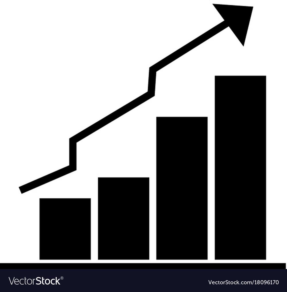 Bars graphic ascendant icon