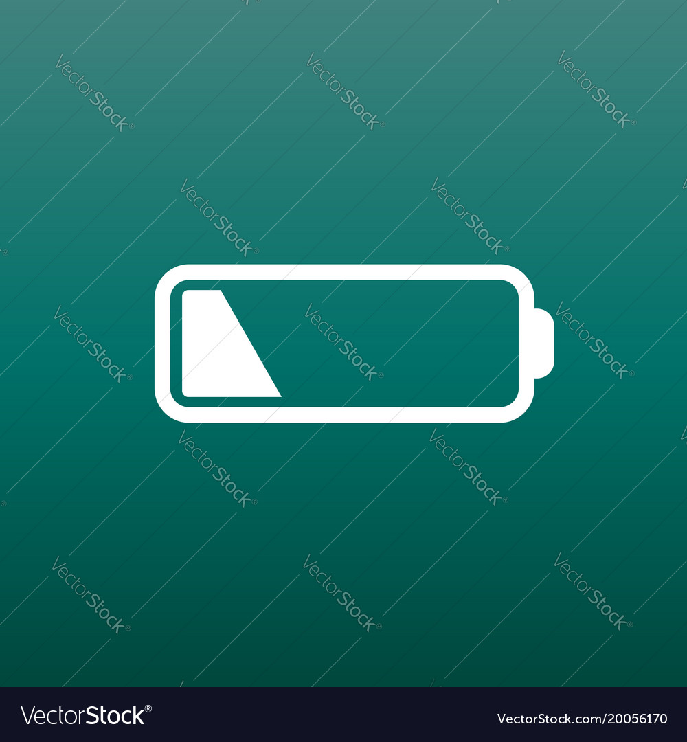 Battery level indicator on green background vector image