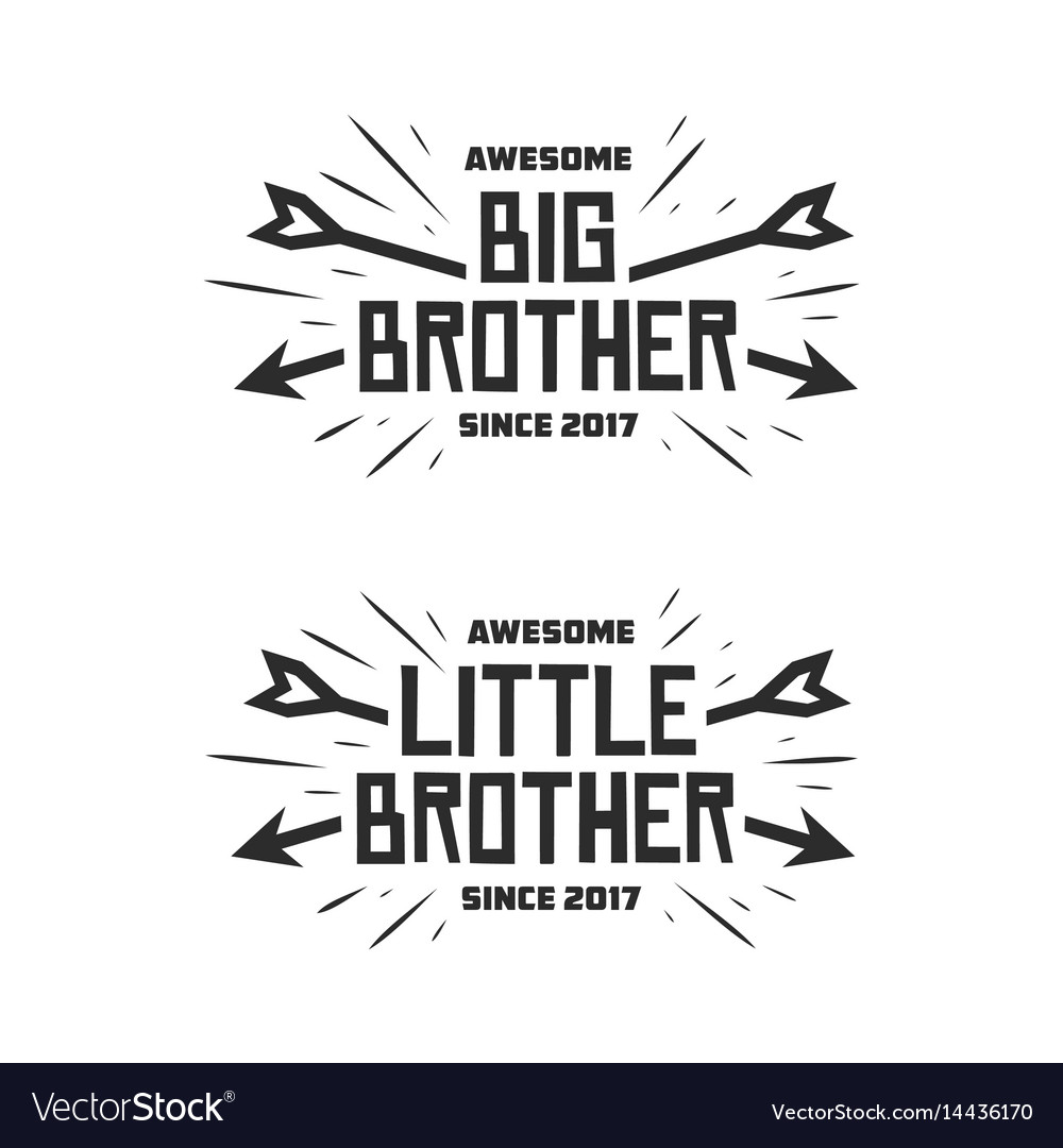 Big brother little brother typography print