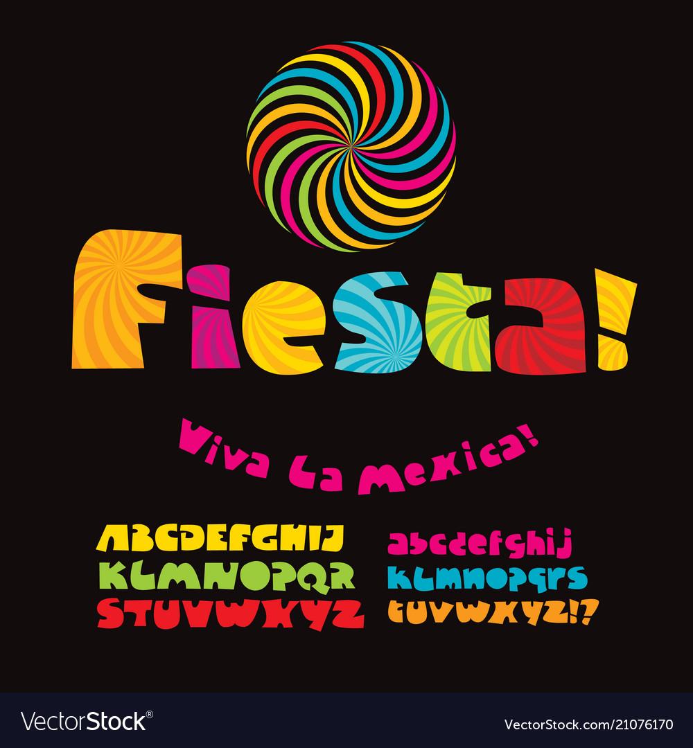 Cool carnival or fiesta abc