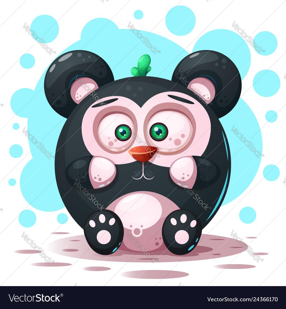 Cute funny - cartoon panda character