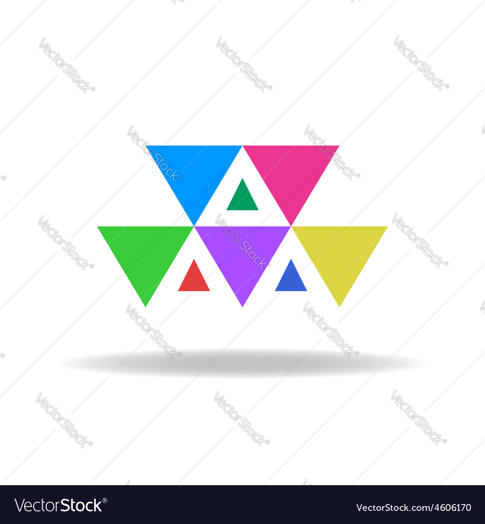 Design logo of the colorful triangles