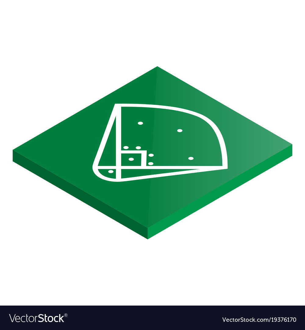 Icon playground baseball in isometric