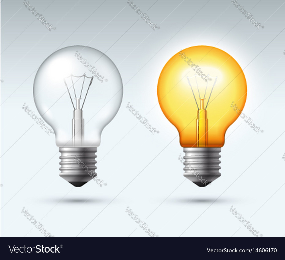 Light bulb switched on and off
