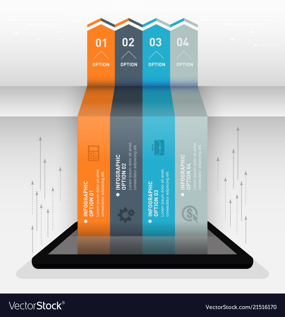 Modern infographic business origami style options