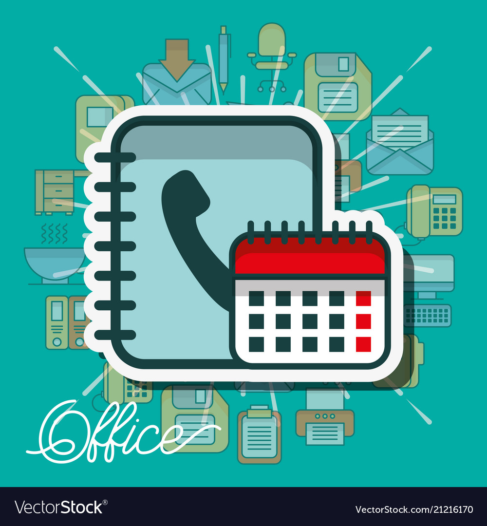 Office supplies and people