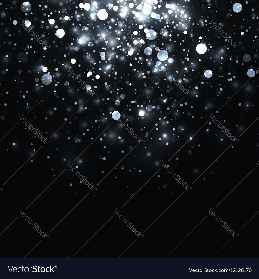 Silver glowing light glitter background