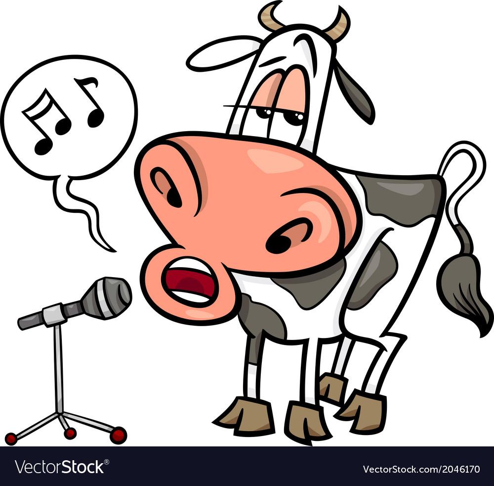 Singing cow cartoon
