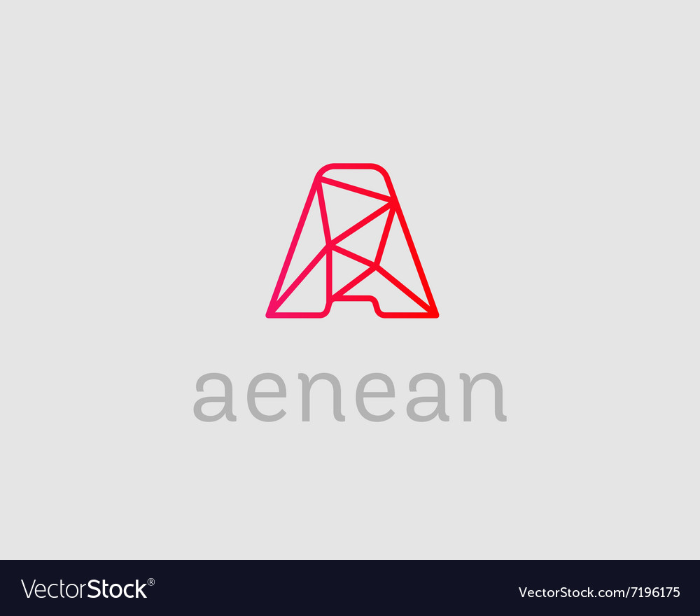abstract trend letter a logo design template vector image