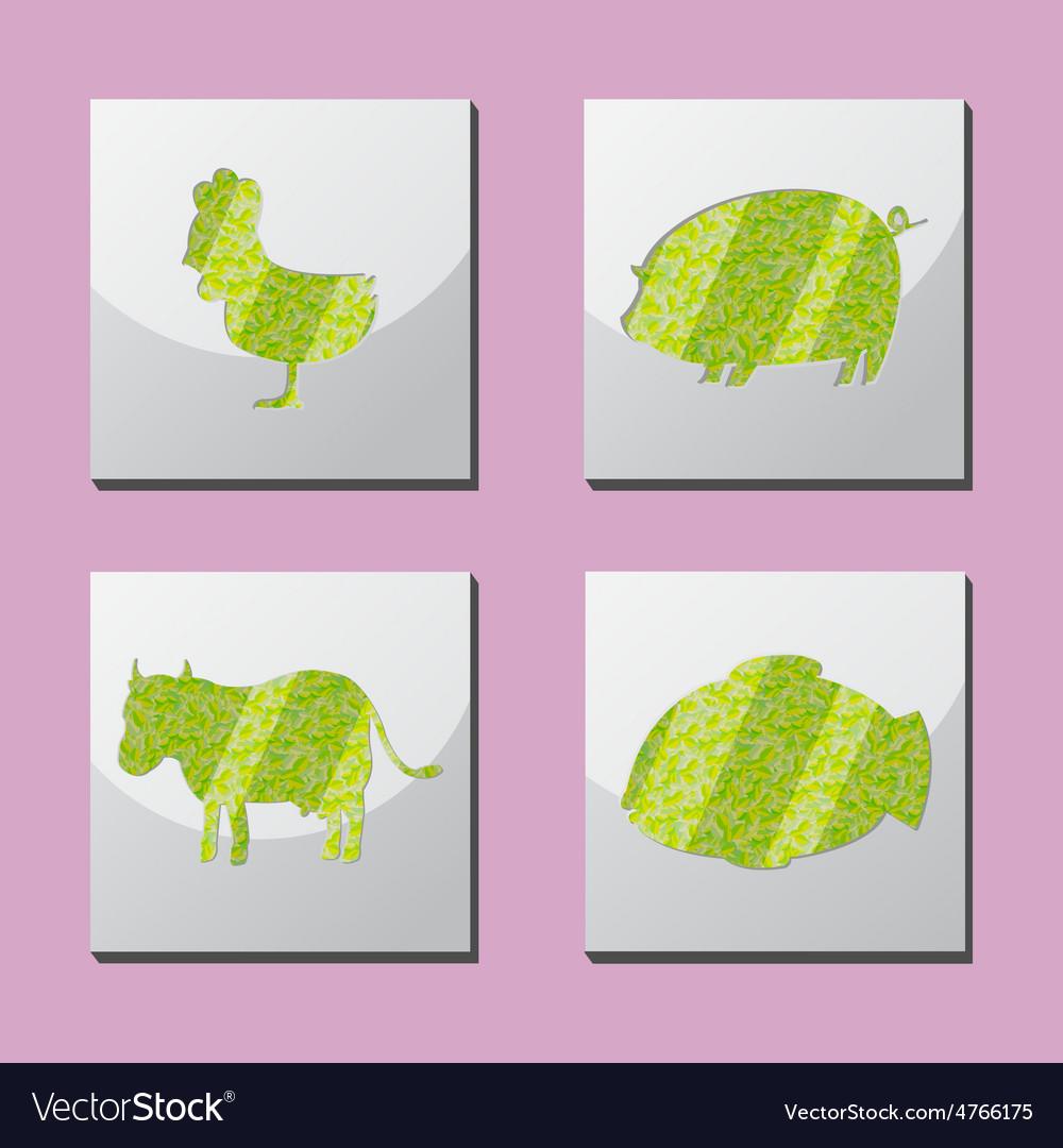 Animal Shape Frame Border Situate vector image