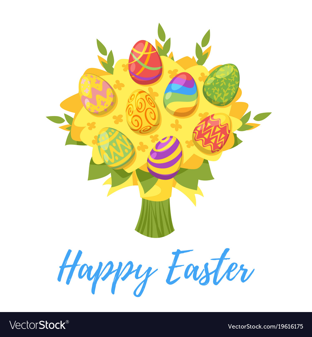 Easter day greeting card
