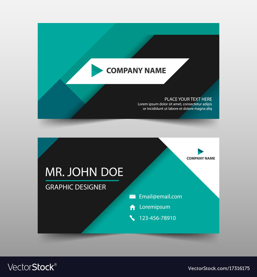 Green corporate business card name card template vector image accmission