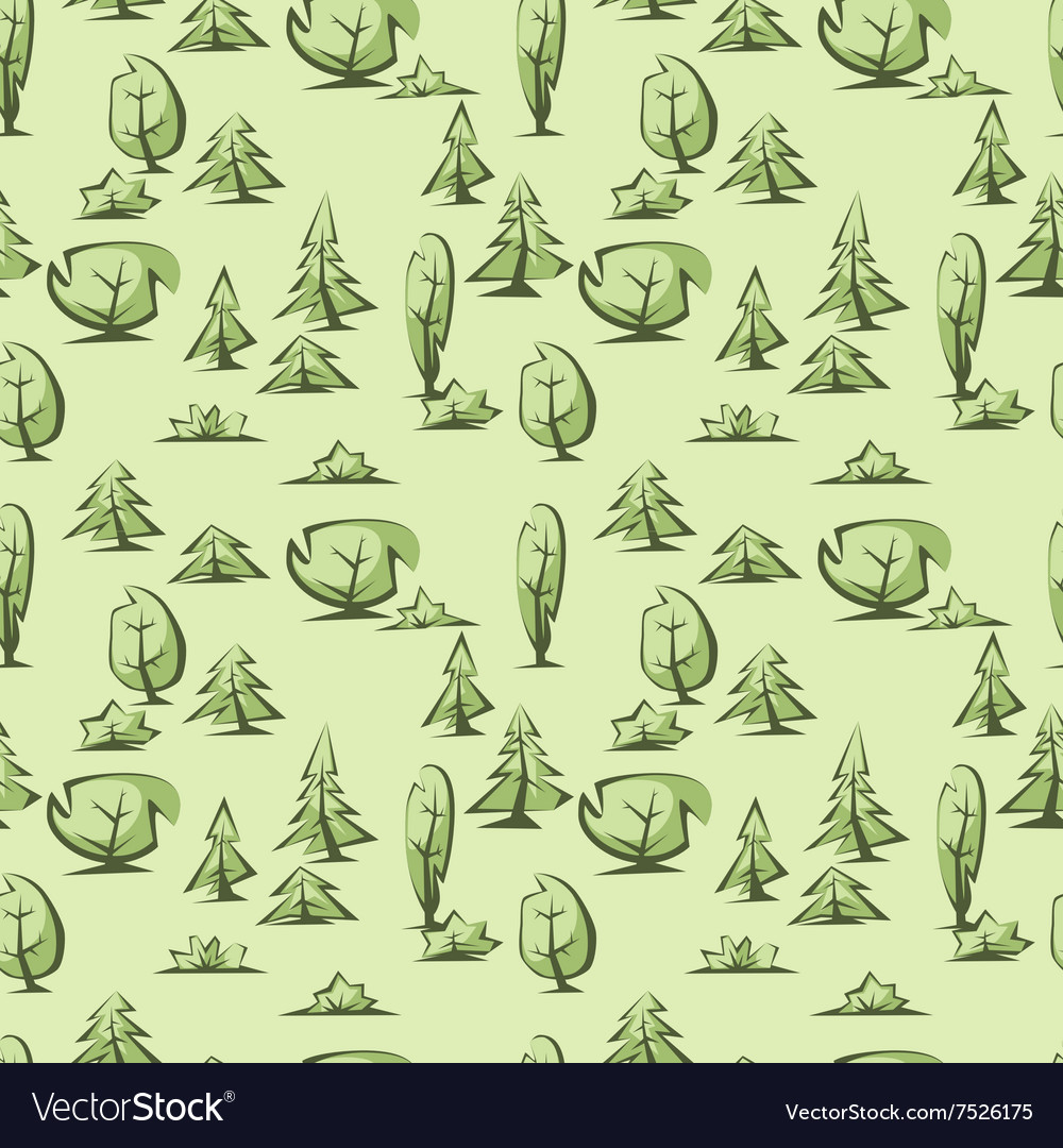 Green trees pattern