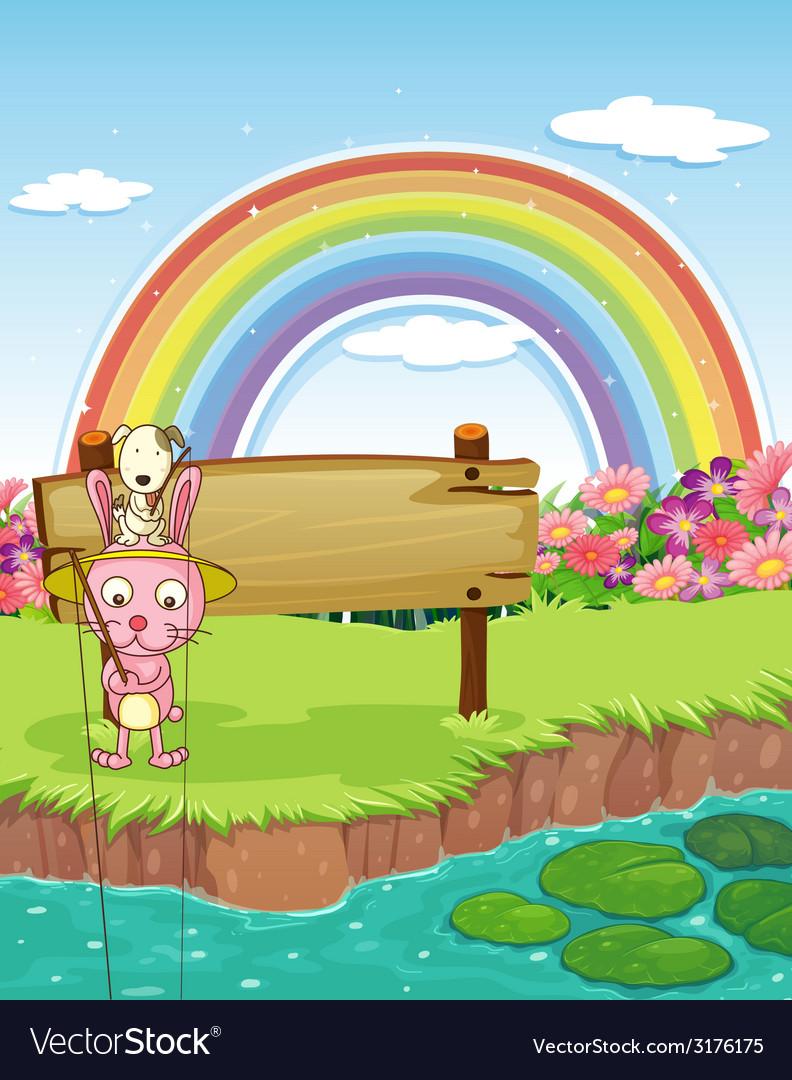 Rabbit and rainbow