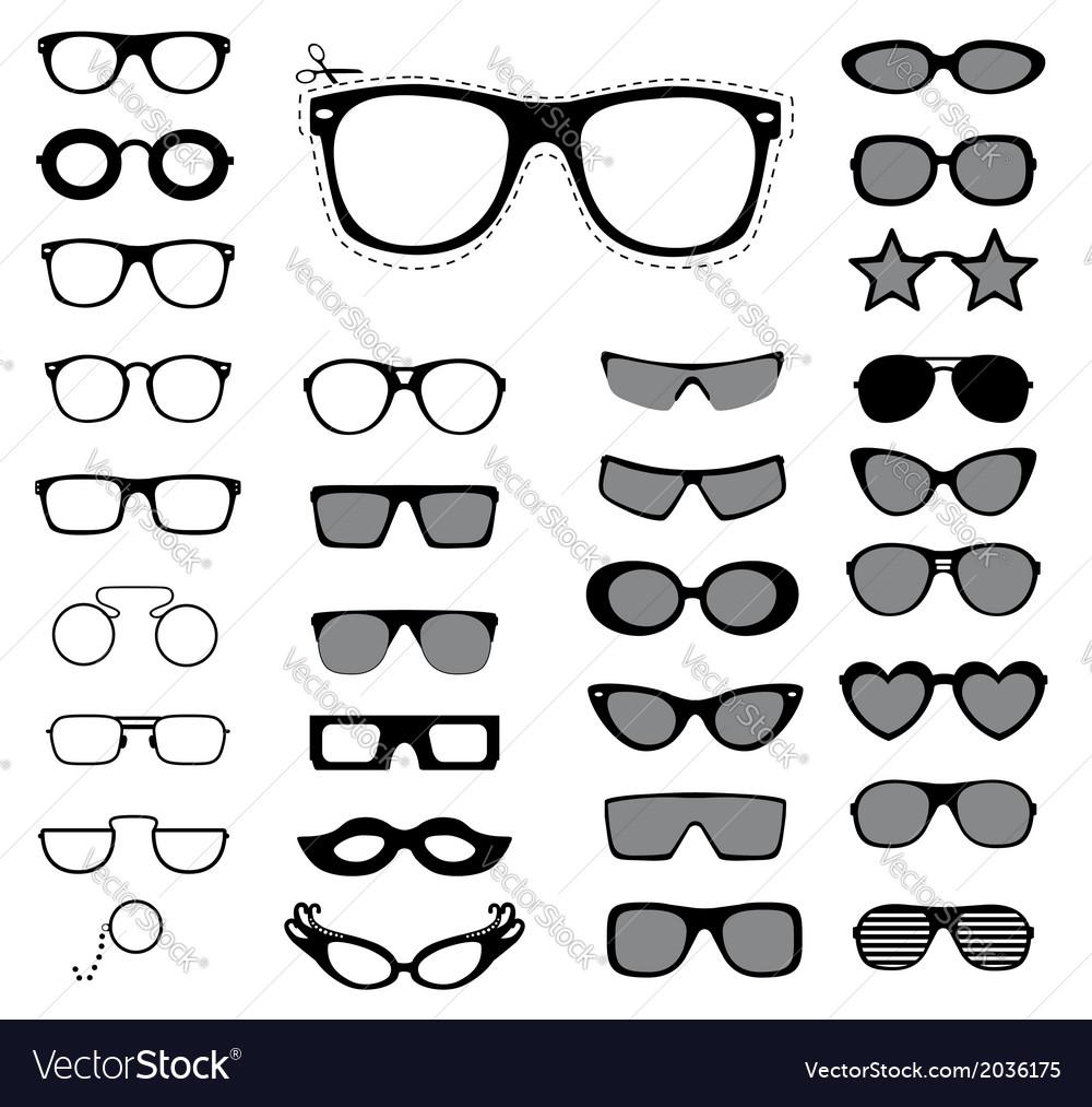 Set sunglasses and glasses